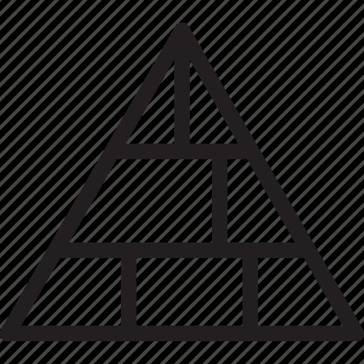 business, finance, pyramid icon