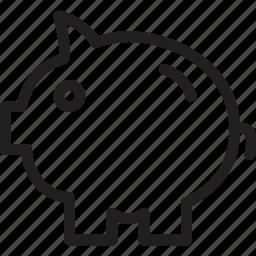 bank, business, finance, piggy icon