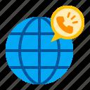 business, call, finance, gloval, international, phonecall, worldwide icon