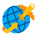 airplane, business, finance, flying, international, travel, trip icon