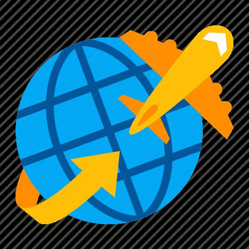 airplane, business, finance, flying, international, travel, trip icon
