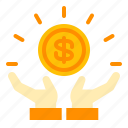 benefit, business, earning, finance, gain, income, profit icon