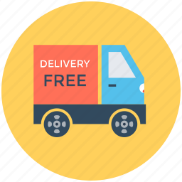 cargo, delivery van, free delivery, free shipping, shipping truck icon