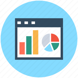 bar chart, business analytics, business graphs, infographics, pie chart icon
