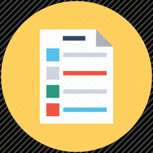 appointment, checklist, list, memo, to do's icon