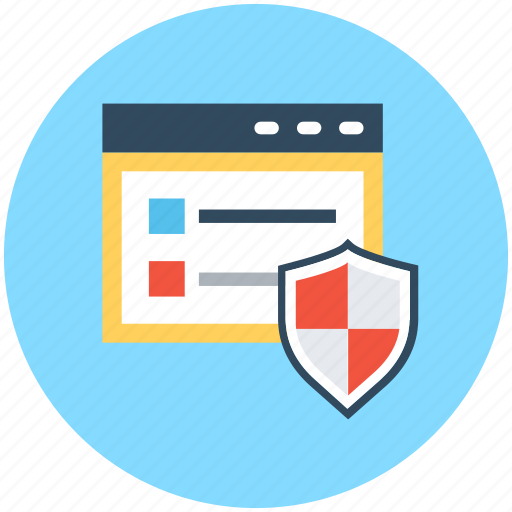 protection shield, shield, web protection, web safety, website icon