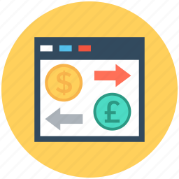 currency exchange, dollar, foreign exchange, money exchange, pound icon