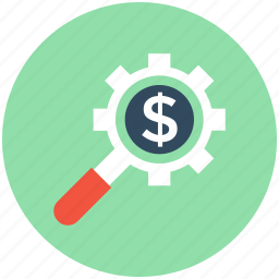 banking, cog, configuration, dollar, investment plan icon