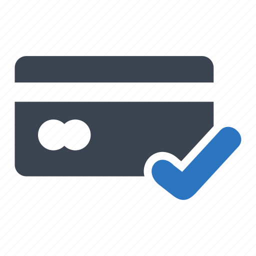 accepted, business, card, credit, finance icon