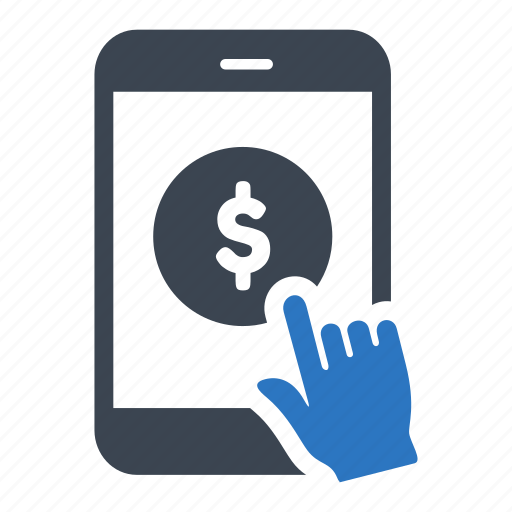 business, coin, finance, mobile, smartphone icon