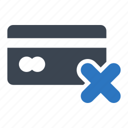 business, card, credit, declined, finance icon