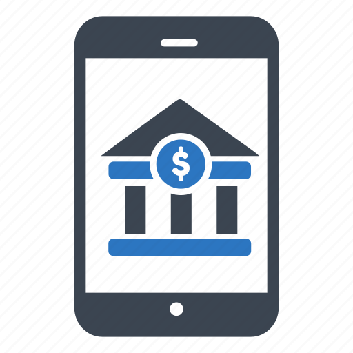 banking, business, finance, mobile, smartphone icon