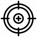 business, focus, goal, management, success, target icon