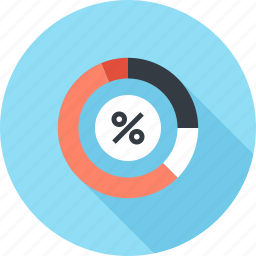 analytics, business, chart, data, finance, graph, percent icon