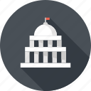 administration, bank, building, capitol, courthouse, federal, government icon
