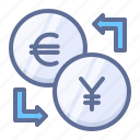 currencies, euro, exchange icon