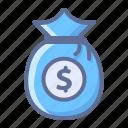 bag, cash, money