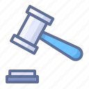 court, hammer, law icon