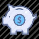 moneybox, piggy bank, saving icon