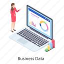 business analytics, business infographic, business statistics, data analytics, data graph, growth chart icon