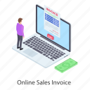 digital payment, ecommerce, itemized bill, online bill, online invoice, online statement icon