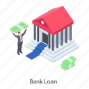 bank, bank building, digital finance, finance, financial institution icon
