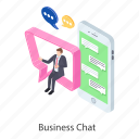 business chat, business communication, business conversation, mobile communication, mobile conversation icon