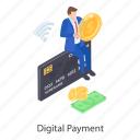 digital payment, internet banking, internet payment, online banking, online payment icon