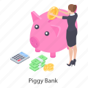 cash bank, money savings, penny bank, piggy bank, piggy moneybox icon