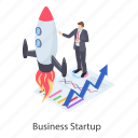 business beginning, business boost, business initiation, business launching, business startup icon