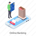 digital banking, ebanking, internet banking, mobile banking, online banking icon