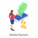 mobile payment, online payment, safe banking, safe payment, secure payment icon