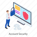 account access, account password, account protection, account security, login, sign in icon
