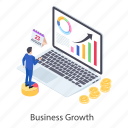 business analytics, business infographic, business statistics, data analytics, online analytics icon