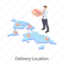 cargo location, delivery direction, delivery location, delivery navigation, gps icon