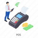 cash till, invoice machine, point of sale, pos terminal, pos icon