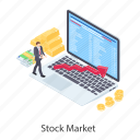financial report, infographic, statistics, stock exchange, stock market icon