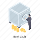 bank locker, bank vault, cash box, locker, safe box icon