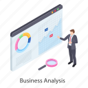business analysis, business analyst, business infographic, data analysis, statistics analysis icon
