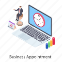 business appointment, business engagement, business meeting, business plan, business time icon