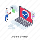 cyber protection, cyber security, encryption, login security, password protection icon