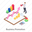 business advertising, business development, business marketing, business promotion, digital marketing icon