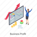 business growth, business income, business infographic, business profit, business statistics icon