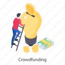 capitalization, cash donation, crowdfunding, crowdsourcing, money donation icon