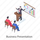 business infographic, business presentation, business statistics, data presentation, graphical presentation icon