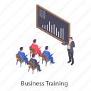 business class, business presentation, business seminar, business training, professional training icon