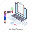 digital survey, online assessment, online evaluation, online survey, questionnaire icon
