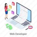 programmer, software developer, software engineer, web developer, web development icon