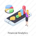 data analytics, data graph, financial analytics, financial infographic, financial statistics, growth chart icon