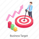 business aim, business goal, business objective, business purpose, business target icon